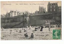 35 - SAINT MALO - Plage De Bon Secours  - 1193 - Saint Malo
