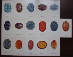 ANTIQUE INTAGLIOS In THE HERMITAGE MUSEUM. Set Of 16 Postcards In Folder. USSR 1977 - Antiquité
