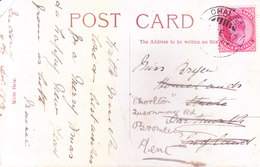 BRITISH INDIA : VINTAGE COLOUR PICTURE CARD, COMMERCIALLY USED : YEAR - 1907 : SIMLA ROM TARA DEVI GAP - 1902-11 King Edward VII