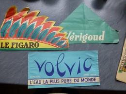 Tour De France Cycliste, Lot De 3 Chapeaux VOLVIC, Le FIGARO, Vérigoud   ; PAP10 - Publicités