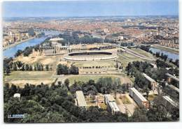 Toulouse. En Avion Sur Le Stade Municipal. Vue Aerienne La Cigogne. M Montariol Architecte De La Ville. Football Stadium - Toulouse