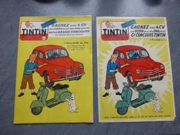 TINTIN 1er Décembre 1955, Gagnez Une 4 CV Renault, Avec Page-affiche Supplément, état Superbe ; RV01 - Tintin