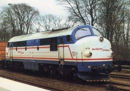 NOHAB Diesel-electric Locomotive No.M10 Of Nordjyske Jernbaner (Privatbahn In Danmark) In Bhf Hjorring In 2002 -  CPM - Trains