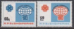 Albania 1983 - International Year Of Telecommunications, Mi-Nr. 2184/85, MNH** - Albania