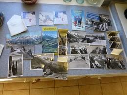 CHAMONIX Et Mont-BLANC, Lot De Publicités, Dépliants, Cartes Postales, Etc Vers 1950 ; PAP10 - Dépliants Touristiques