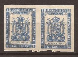 ESPAGNE - MAROC - Franchise Militaire - MELILLA - N° 45 Paire NEUF XX MNH (2ème Armée) - Marruecos Español