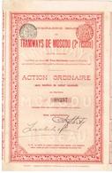 Titre Ancien - Compagnie Belge Des Tramways De Moscou (2ème Réseau) - Titre De 1905 - Russie