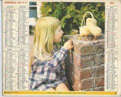ALMANACH DES POSTES  1977 ( CALENDRIER )  IL EST SI BEAU, L'ENFANT.... ( POUSSIN ) - Grand Format : 1971-80
