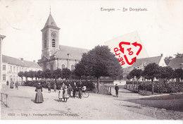 EVERGEM - De Dorpplaats - Superbe Carte Animée Et Circulé En 1919 - Evergem