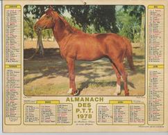 ALMANACH DES POSTES  1978 ( CALENDRIER )  PUR SANG - Grand Format : 1971-80