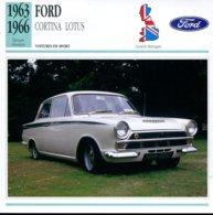 Grande Bretagne 1963-1966 - Ford Cortina Lotus - Voitures