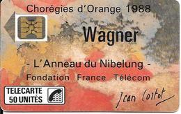 CARTE-PUBLIC-F23A-50U-SC4 On-1988-WAGNER-V°N°6Pe 102830--UTILISE-TBE LUXE - France