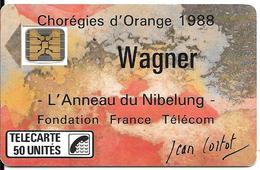 CARTE-PUBLIC-F23A-50U-SC4 On-1988-WAGNER-V°N°6Pe 102987--UTILISE-TBE LUXE - France