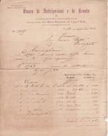 ** BANCO DI ANITICIPAZIONI E DI SCONTO , CASTELNUOVO GARFAGNANA.- (LU).- 1886.-** - Italia