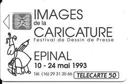CARTE-PUCE-PRIVEE-PUBLIC- 50U-EN428-SC4-12/92-CARICATURE-EPINAL 93-V°Imp 44302-Utilisé-TBE-LUXE - France