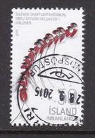 ISLANDIA 2015 - Sello Matasellado - Usados