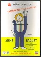 """Carte Postale : Anne Baquet (création 2011 """"Elle était Une Fois"""") Théâtre Du Balcon - Avignon - Illustration Savignac - Savignac"""