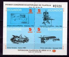 ECUADOR - 1985 First National Philatelic Congress And The 50th Anniversary Of Ecuador Philatelic Association Sta   M2257 - Equateur