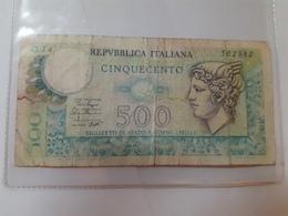 BIGLIETTO CINQUECENTO LIRE 1979 - [ 2] 1946-… : Repubblica