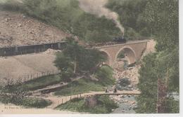 CPA Les Gorges Du Lignon - Au Pont De L'Enceinte - Le Pont Neuf (animation Avec Train) - France