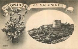SALONIQUE  UN BONJOUR  DE SALONIQUE - Grecia