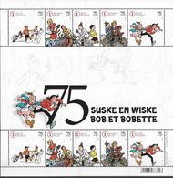 BELGIUM, 2020, MNH, 75 YEARS OF SPIKE AND SUZY, YOUTH PHILATELY, SHEETLET OF 2 SETS - Childhood & Youth