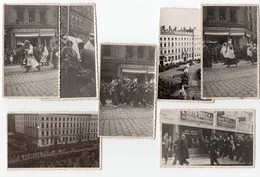 * - Lot De 7 Photos Prises à Lyon Bellecour En Mai 1937 Lors De La Fête Des Nations - Spahis, Herriot, Camions Anciens.. - Lugares
