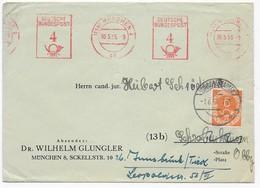 Brief 1953 - München Nach Schrobenhausen - Freistempel - Nachsendung Nach Innsbruck Mit Posthornfrankatur Nr. 126 - [7] République Fédérale