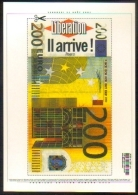 """Carte Postale """"Cart'Com"""" (2001) - Libération - Présentation Des Billets En Euro - Pubblicitari"""