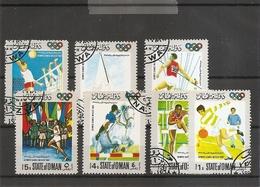 JO De Mexico -1968 ( Série De 7 Timbres Privés Oblitérés De Oman) - Verano 1968: México