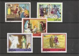 Christianisme ( Série De 5 Timbres Privés Oblitérés De Oman) - Christentum