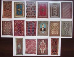 AZERBAIJAN CARPETS AND RUGS. Set Of 16 Postcards In Folder. USSR 1978 - Azerbaïjan