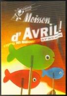 """Carte Postale édition """"Carte à Pub"""" - Guignol Présente Moisson D'Avril ! Le Festival Des Marionnettes - Lyon - Publicité"""