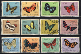 MOZAMBICO - 1953 - FARFALLE VARIOPINTE - BUTTERFLIES - PAPILLONS - USATI - Mozambique
