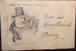 CPA,1900, Illustrateur Signé, Boers Et Anglais, Messieurs Les Anglais, Vous Vous Tirez Les Premiers!, Humour, Militaria - Illustrateurs & Photographes