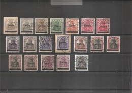 Sarre ( Lot De Timbres Divers Différents De 1920 Oblitérés) - 1920-35 Société Des Nations