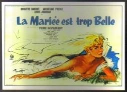 Carte Postale : La Mariée Est Trop Belle (Cinéma Affiche Film) Illustration Brenot (Brigitte Bardot) - Posters On Cards