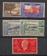 Nouvelle Calédonie - 1944 - N°Yv. 244 à 248 - Complet 5 Valeurs - Neuf Luxe ** / MNH / Postfrisch - New Caledonia