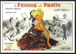 Carte Postale : La Femme Et Le Pantin (Cinéma Affiche Film) Illustration Brenot (Brigitte Bardot) - Posters On Cards