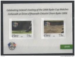 Irlande 2006 N°1729/1730 En Bloc  Neufs ** Sport Golf Ryder Cup - Blocchi & Foglietti
