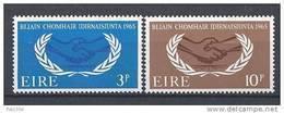 Irlande 1965 N°173/174 Neufs ** 20 Ans De L'ONU - Neufs