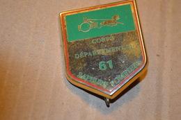 Rare Insigne Sapeurs Pompiers Corps Départemental 61 Orne - Pompiers