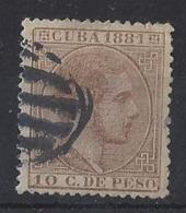 "CUBA...."" 1881 "".....SG95...........USED... - Cuba (1874-1898)"