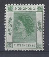 "HONG KONG...QUEEN ELIZABETH II.(1952-NOW)...."" 1954 ""......15c.....SG180.....MNH... - Nuovi"