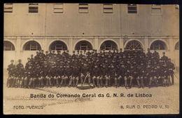 Banda Do Comando Geral Da G.N.R. De Lisboa GNR (Banda Musical). Postal Foto Venus - Rua D.Pedro V Lisboa PORTUGAL - Coimbra
