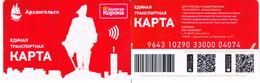 Transport  Card  Russia. Arkhangelsk - Russia