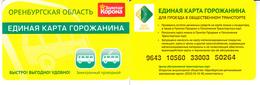 Transport  Card  Russia. Orenburg  Region - Russia