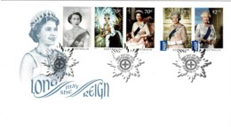 Australia 2015 Long May She Reign - Queen Elizabeth FDC - Premiers Jours (FDC)