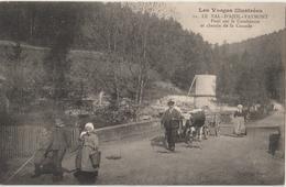 LE VAL D'AJOL - FAYMONT. Pont Sur La Combeauté Et Chemin De La Cascade. Attelage De Boeufs. Animation. - Francia