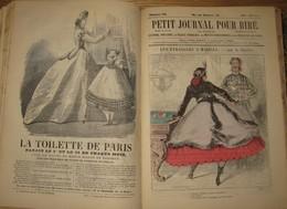 Petit Journal Pour Rire - 1864 - 52 N°s - Illustrations De A. Grévin - Nadar - Darjou - Gripp - Damourette Et Marin ... - Livres, BD, Revues